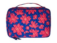 Vera Bradley Large Blush Brush Makeup Case Art Poppies Cosmetic Case Pink
