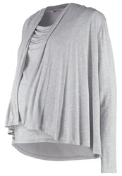 Bellybutton Mairah Long Sleeved Top Grey Melange Italy Mottled Grey