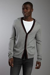 Rogue Lightweight Wool Cardigan With Contrast Striping