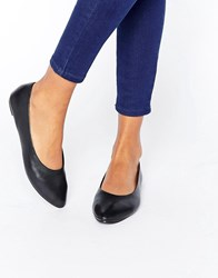 New Look Leather Point Ballet Pump Black