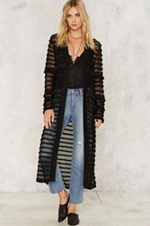 Clean Sweep Maxi Cardigan Black