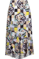 Raoul Ivy Swing Printed Georgette Midi Skirt Multi