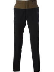 N 21 No21 Colour Block Tailored Trousers Black