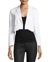 10 Crosby Derek Lam Cropped Open Front Blazer Soft White