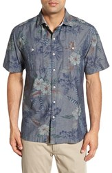 Men's Tommy Bahama 'Indigo Tropical Riviera' Island Modern Fit Floral Print Sport Shirt