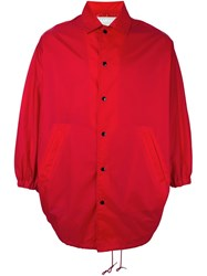 Ganryu Comme Des Garcons Poncho Jacket Red