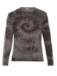 Valentino Tie Dye Wool And Cashmere Blend Sweater Grey Multi