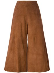 Drome Straight Cropped Trousers Brown