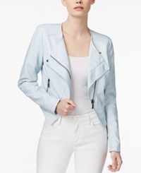 Bar Iii Asymmetrical Faux Leather Moto Jacket Only At Macy's