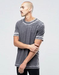 Weekday Looker Ringer T Shirt Washed Out 08 220 Black Washed