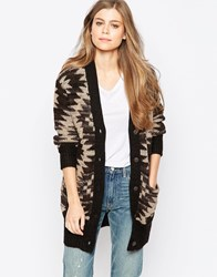 Denim And Supply Ralph Lauren Denim And Supply By Ralph Lauren Large Geo Print Cardigan Brown Multi