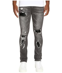 God's Masterful Children Amadeo Ripped Leather Jeans Grey Men's Jeans Gray