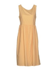 Massimo Alba Knee Length Dresses Light Yellow