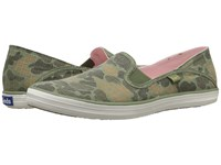 Keds Crashback Camo Ripstop Olive Camo Women's Slip On Shoes Green