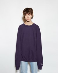 Vetements Oversized Sweatshirt Purple Print