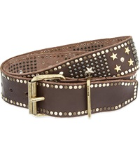 Diesel Bagal Metal Studded Belt Brown