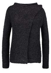 Jdygaby Cardigan Dark Grey Melange Mottled Dark Grey