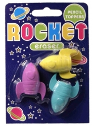 Rocket Erasers Pencil Toppers Set Of 3 Only 2.99 Unique Gifts And Home Decor Karma Kiss