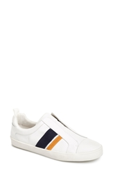 Derek Lam 'Laurel' Slip On Leather Sneaker Women White Navy Orange