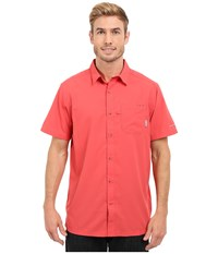 Columbia Slack Tide Camp Shirt Sunset Red Men's Short Sleeve Button Up Multi