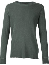 Rrl Long Sleeve T Shirt Green