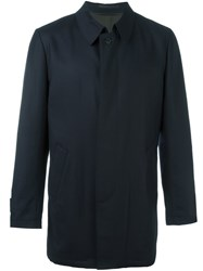 Corneliani Concealed Fastening Waterproof Coat Blue