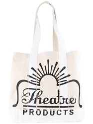 Theatre Products Logo Canvas Shopper Tote White