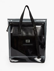 Eytys Black Custom Polyester And Pvc 'Void' Tote Bag