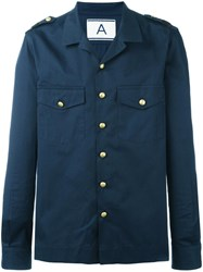 Andrea Pompilio Plain Shirt Blue
