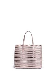 Azzedine Alaia 'Vienne' Perforated Leather Tote Neutral