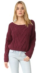 Free People Sticks And Stones Pullover Wine