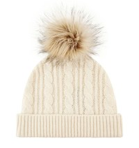 Hobbs Thea Cable Hat Cream