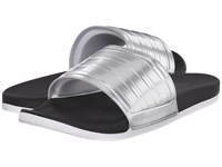 Adidas Adilette Sc Silver Black Women's Slide Shoes