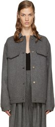 Stella Mccartney Grey Wool Moony Jacket