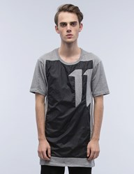 11 By Boris Bidjan Saberi Block Graphic Asymmetrical S S T Shirt