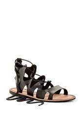 Elegant Footwear Lupitaa Lace Up Sandal Black