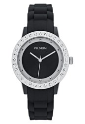 Pilgrim Watch Silvercoloured Black