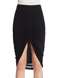 Helmut Lang Center Ruched Hi Lo Skirt