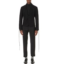 Haider Ackermann Oversized Lacing Cashmere Blazer Black