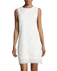 Max Studio Lace Sleeveless Sheath Dress Off White