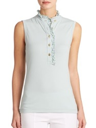 Tory Burch Lidia Sleeveless Polo Shirt Seaside