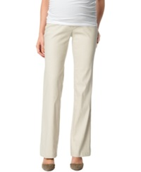 A Pea In The Pod Maternity Linen Blend Bootcut Pants Sand