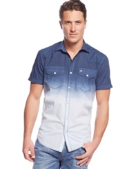 Inc International Concepts Cody Dip Dyed Shirt Clear Sky Blue