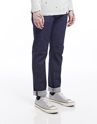 Edwin Ed55 11.5Oz White Listed Indigo Relaxed Tapered Jean Unwashed