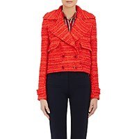 Altuzarra Women's Tweed Double Breasted Newport Jacket Red