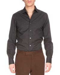 Berluti Check Woven Sport Shirt Black Check