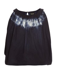 Rachel Comey Antic Tie Dye Cropped Top Blue White