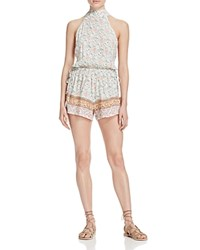Faithfull The Brand Louis Halter Romper Faded Out Print