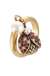 Marc Jacobs Embellished Ladybird Ring Gold