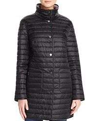 Basler Reversible Stand Collar Quilted Jacket Black